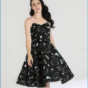 Hell Bunny NWT cotton Black Floral Bunnies Small
